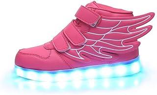 Luckfugui Little Big Kid boy girl USB Flashing LED Shoes Sneaker PK31