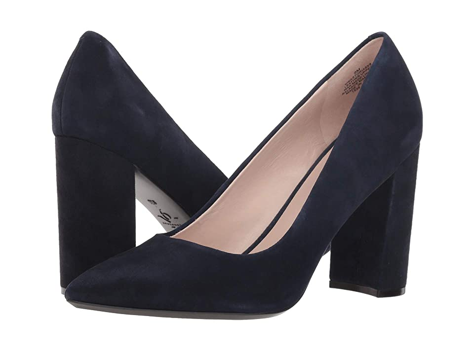 Nine West Astoria Block Heel Pump (Navy Suede 2) High Heels
