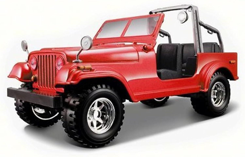 Jeep Wrangler, Red  Bburago 22033  1 24 Scale Diecast Model Toy Car