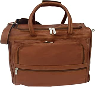 "(saddle, 16""x12""x10"") - Piel Leather 2277 Computer Carry-All Bag - Saddle"
