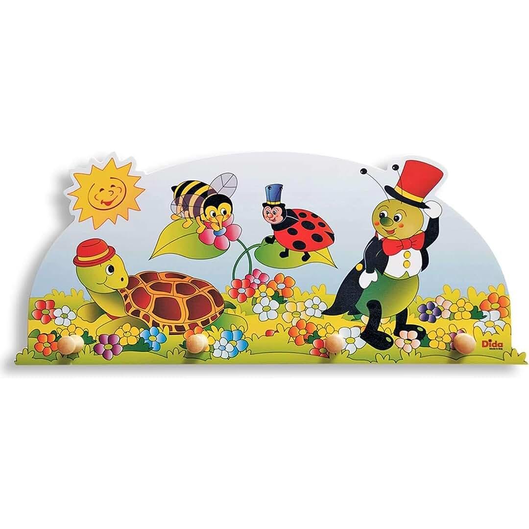 Porte-Manteaux Enfant Animaux Qui Jouent dans la for/êt Porte Manteau Mural en Bois pour Chambres denfant et b/éb/é Dida