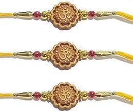 Set of 3 OM Design Assorted Rakhi Bracelets Ganesh Design Raksha Bandhan Gift for your Brother Vary Color and Multi Design