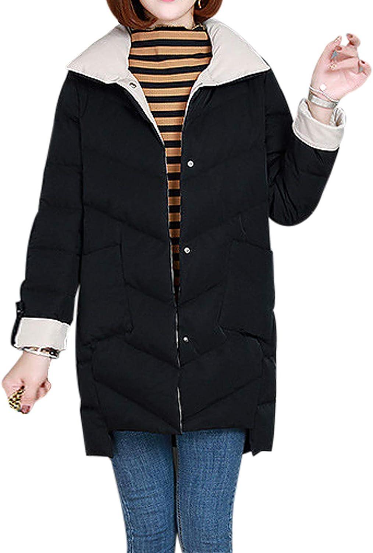 Jenkoon Women's Winter Warm Heavyweight Parka Puffer Coat
