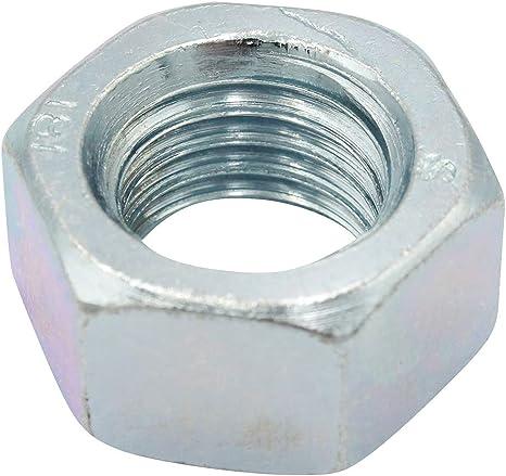 VPE: 50 St/ück galvanisch verzinkt Sicherungsmuttern DIN 985 Selbstsichernde Muttern niedrige Form Gr/ö/ße: M2,5 D2D