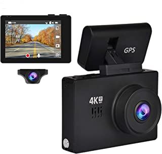 Dash Cam 3inch Touch Screen 4K Dash Camera for Cars, Wide Angle Car Camera with Super Night Vision, Parking Mode, G-Sensor, Motion Detection, Loop Recording, Gesture Sensing,