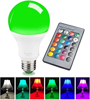 Sendida Color Changing Light Bulb - E26 E27 RGB Remote Control Lighting Bulb for Decor Mood Lamp - 15W