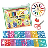 STENZTIME Ultimate Stencil Set | Large 70 Piece Stencil Drawing Kit and Over 260 Shapes | Ideal...