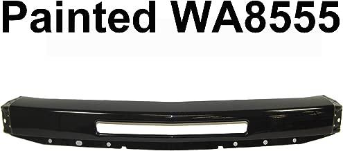 For 2007-2013 CHEVY SILVERADO 1500/2007-2010 SILVERADO 2500HD 3500HD Painted Black WA8555 Front Bumper Face Bar with Air Intake Hole GM1002836