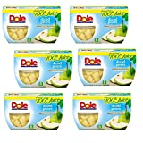 DOLE FRUIT BOWLS  Diced Pears in 100% Juice, 4 Cups (Pack of 6)