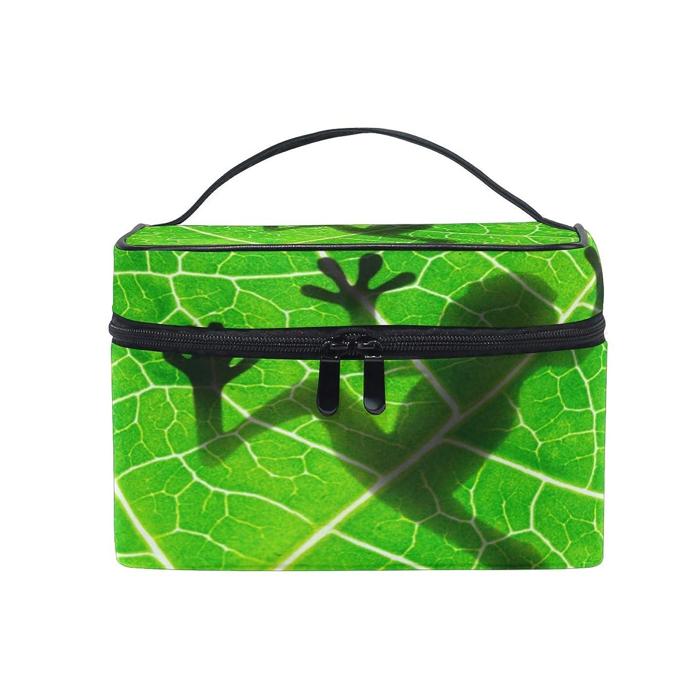 なめるなだめる囲まれたUOOYA 熱帯雨林の 面白い 木のカエル おしゃれ メイクボックス 大容量 持ち運び メイクポーチ 人気 小物入れ 通学 通勤 旅行用 プレゼント用