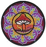 Parche termoadhesivo, diseño de seta mágica psicodélica, para planchar o hacer yoga