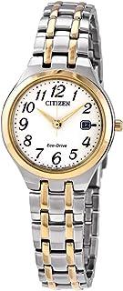 Citizen EW2486-52A Women's Eco-Drive White Dial TT Bracelet Watch