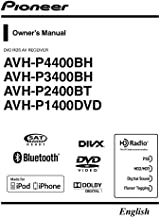 Pioneer AVH-P4400BH AV Receiver Owners Instruction Manual Reprint [Plastic Comb]