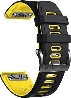 comprar comparacion NotoCity Correa Compatible con Fenix 6X Easy Fit 26 mm Pulsera de Silicona para Fenix 6X/Fenix 6X Pro/Fenix 5X/Fenix 5X Pl...