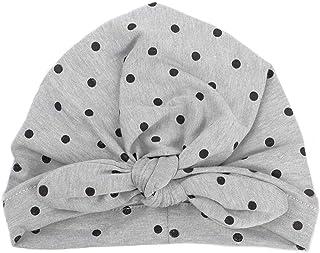 Bobury Bébé Fille modèle de Point Chapeau Mignon Bandeau élastique Headwraps Oreilles de Lapin Porte-Cheveux Bande nouée Wrap