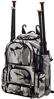 Gray Camouflage Chita M Softball Baseball Bat Equipment Backpack GYCAChitaM