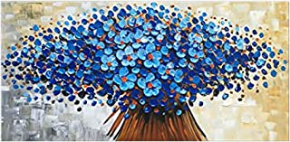 LEPOTN Pittura a Olio Dipinta a Mano Nuova Tela Moderna Fatta a Mano su Pittura a Olio Business fiorente Ricco Albero D Dipinti Decorazioni per la casa Soggiorno Wall Art Rimless-16 x24 40X60CM