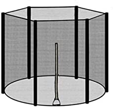 heresell Trampoline-veiligheidsnet 183/244/306/366 cm voor 6/8 stangen, zonder palen, vangnet, tuintrampoline, duurzaam ny...
