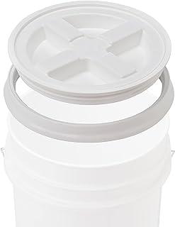Gamma Seal Seau de qualité alimentaire en polyéthylène haute densité sans BPA Blanc 1,5 l