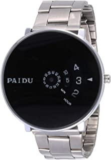 Paidu Dress Watch for Men, Stainless Steel Band, Analog-Digital