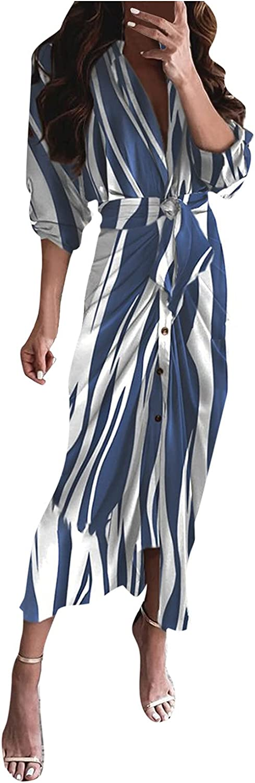 Elegant Ladies Bandage Maxi Shirt Dresses Solid Color Women Autumn Sexy Deep V-Neck Long Sleeve Bodycon Party Dress