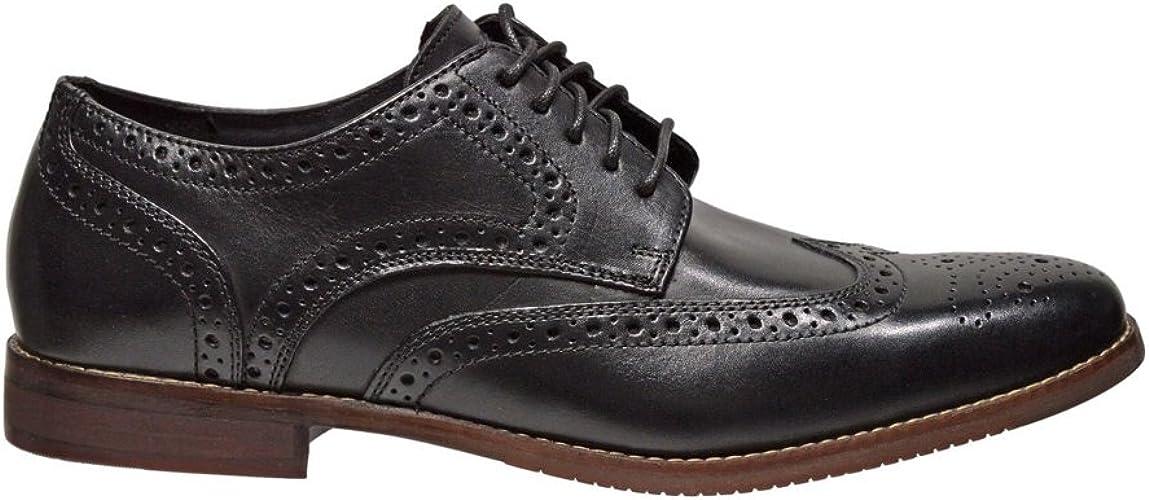 Rockport New Men's Symon Wingtip Dress Oxford noir 11.5