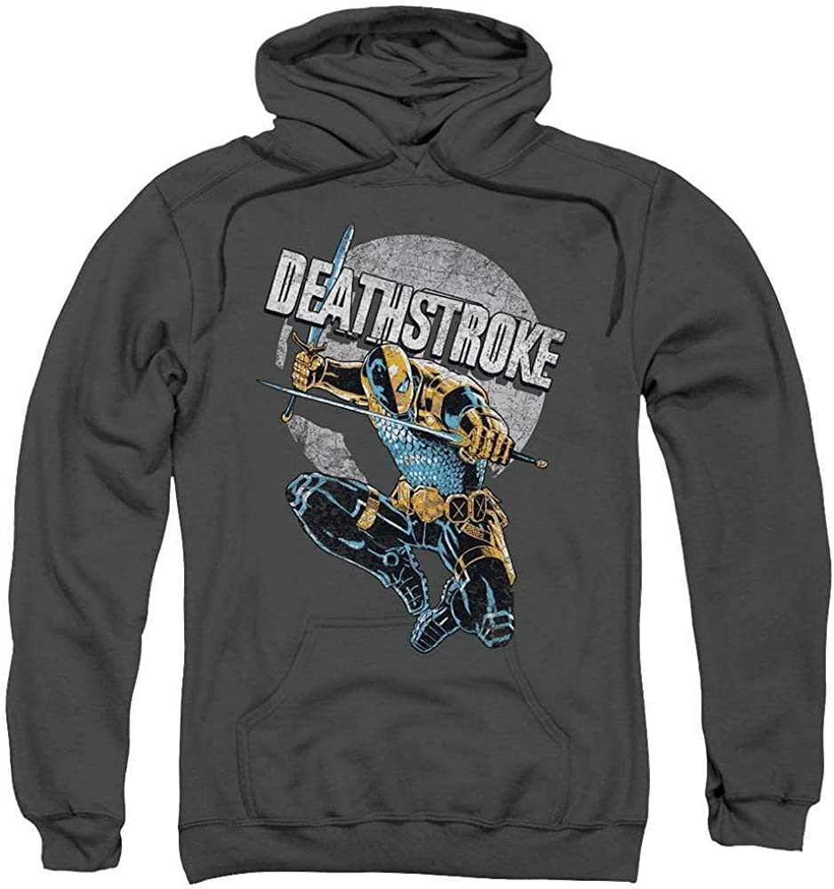 Justice League of America Louisville-Jefferson County Mall Max 61% OFF Deathstroke Retro Adult Pull-Over Hood