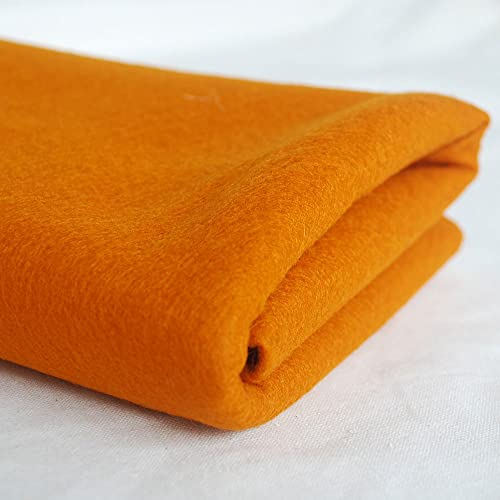 100% Pure Wool Felt Fabric - 1mm Thick - Carrot Orange - 80cm x 1 Metre