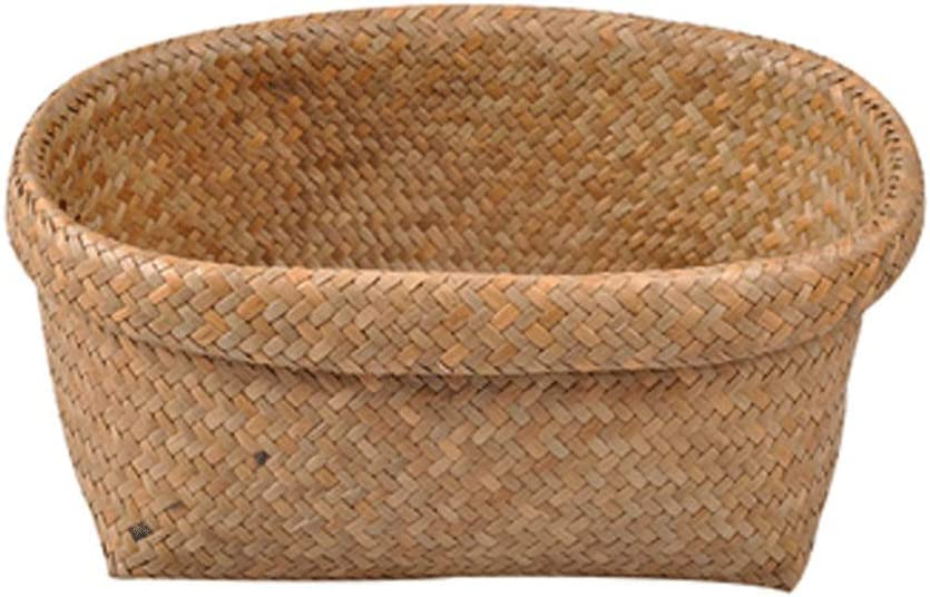 Storage Max New Orleans Mall 65% OFF Basket Large Hand-Knitted Seaweed Woven