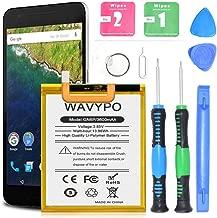Wavypo Nexus 6P Battery 3600mAh HB416683ECW Li-Polymer Built-in Replacement Battery for Huawei Google Nexus 6P H1511 H1512 with Repair Toolkit [24 Month Warranty]