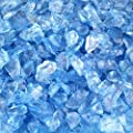 CYS EXCEL Glass Vase Fillers, Glass Gravel, Crushed Stone, Stone Gem for Centerpieces, Approx 5000 Pieces, 2LBS