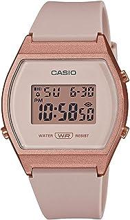 Casio Reloj deportivo de cuarzo para mujer con correa de resina, rosa, 21 (Modelo: LW-204-4ACF)