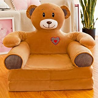 SOFAS Foldable Children s Armchair  Cute Baby Small Seat Kid Chair Washable Cartoon Kid s  Children Girl and boy Birthday Gift Lazy Upholstered brownbear