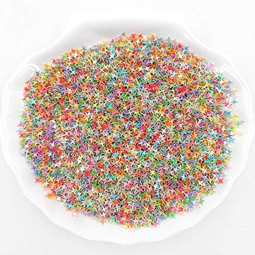 10g cristal paillettes à ongles 4mm croix étoile forme paillette pour ongles Art Glitter, mariage décro confettis, accessoires de maquillage, AB Mix couleur, 10g 2000 pcs
