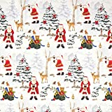 Fabulous Fabrics Halbpanama Weihnachtsmann im Schnee –