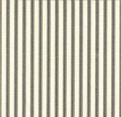 Close to Custom Linens French Country Brindle Gray Ticking Stripe Tailored Valance (Lined)