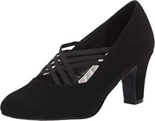 Easy Street Women's Pump, Black Suede