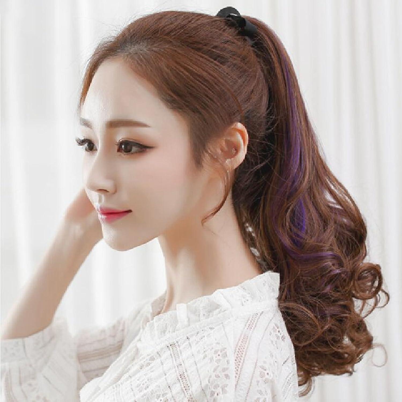 marcas de moda Longless Equiseto Equiseto Equiseto o cola de caballo pelucas correas gran ola realista ponytail pera rizos largos  alta calidad general