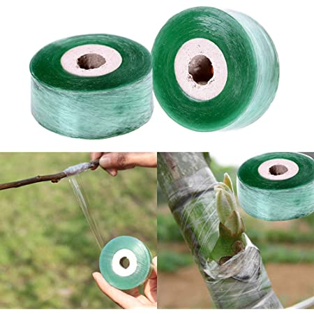 Grafting Tapes 2 x360ft Garden Nursery Tape 1Roll for Plant and Fruit Tree Stretch Film Clear Stretchable wrap for Package