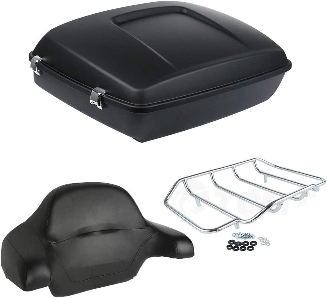 XMT-Moto Matte Black Chopped Tour New item Kit Pack w Luggage Limited time sale Wrap-Around