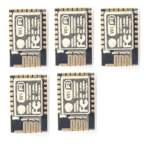 JVJ 5Pcs Esp8266 Esp-12e Serial Wifi-Modulo ricetrasmettitore Wireless per Arduino 2560 R3 Nano