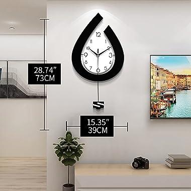 JTWALCLOCK 28.7 Inch Large Wall Clocks for Living Room Decor Big Pendulum Modern Wall Clocks for Kitchen Bedroom Bathroom Dec