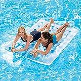 UNIVIEW Agua Flotante Pad, 36 Agujeros Doble Fila Flotante Flotante Inflable de Cama, Cama de Agua, Playa colchoneta, colchón de Agua, for los Deportes acuáticos Juguetes (Color : A)