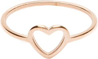 Heart Ring in Rose Gold Delicate Ring Stainless Steel Jewelry