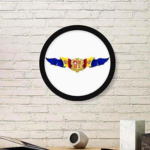 DIYthinker Andorra Vlag Nationaal Embleem Ronde fotolijst Kunstdrukken Van Schilderijen Thuis Muursticker Gift