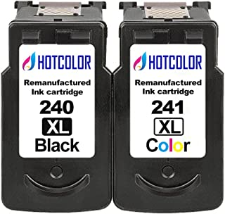 HOTCOLOR 2 Pack PG-240XL CL-241XL Black Color 5206B001 5208B001 Ink Cartridge for PG-240 CL-241 High Yield for PIXMA MX452 MX459 MX472 MX512 Printer