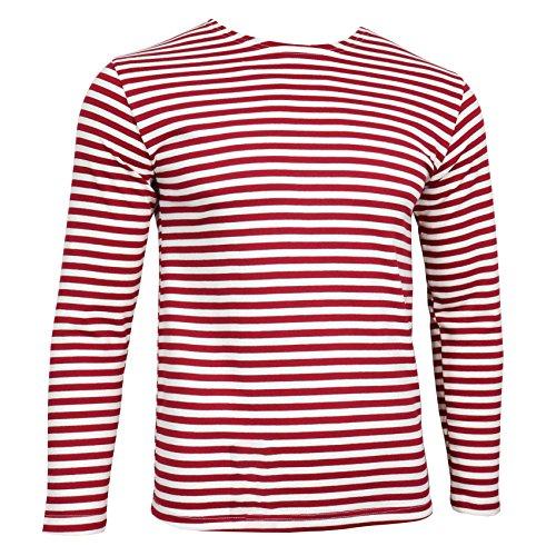 Epic Outdoor Ruso Telnyashka De Fuerzas Especiales–Camiseta de Manga Larga–Rojo Diseño de Rayas