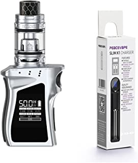 Auténtica SMOK MAG BABY KIT 50W 1600 mAh con TFV12 Baby Prince 2mL (Plata/
