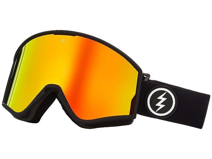 Electric Eyewear Kleveland (Matte Black Brose/Red Chrome) Athletic Performance Sport Sunglasses