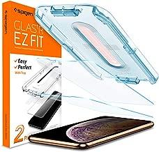 """Spigen, 2 Pièces, Verre Trempé iPhone 11 Pro Max/XS Max(6.5""""), EZ FIT, Kit d'installation, Respectueux de la Casse, Compatible Face ID, Protection ecran iPhone 11 Pro Max/XS Max"""